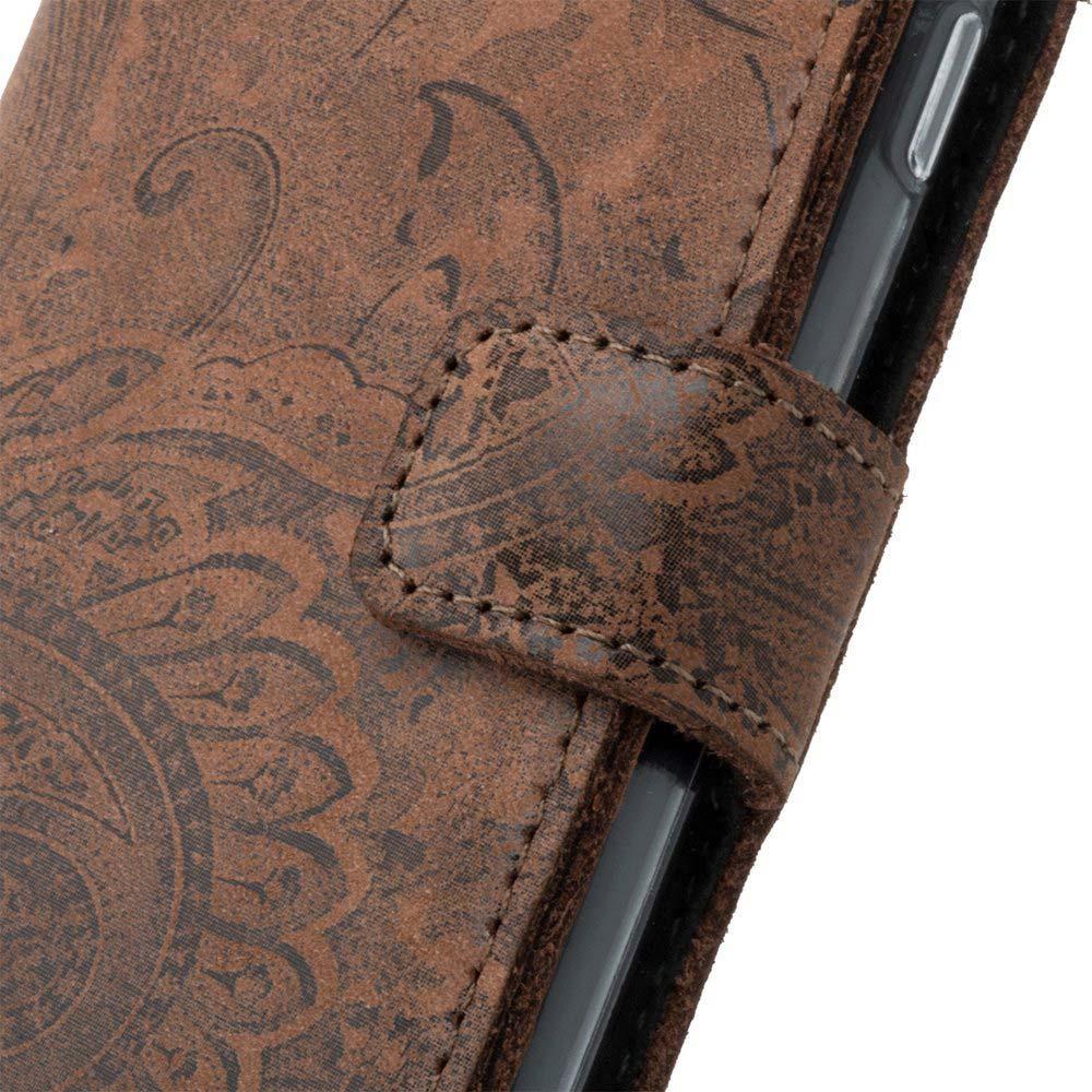 Wallet case RFID Premium - Ornament Braun